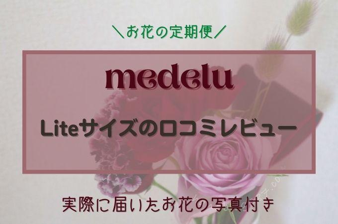 medelu(メデル)のLiteサイズを実際に利用した口コミレビュー!初回割引クーポン付