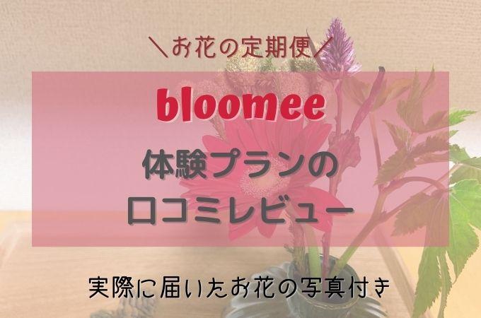 bloomee(ブルーミー)の体験プランの口コミレビュー!初回無料クーポン付