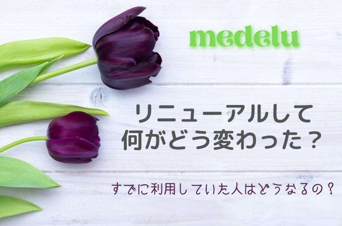 【お花の定期便medelu】リニューアルされて変わったところは?