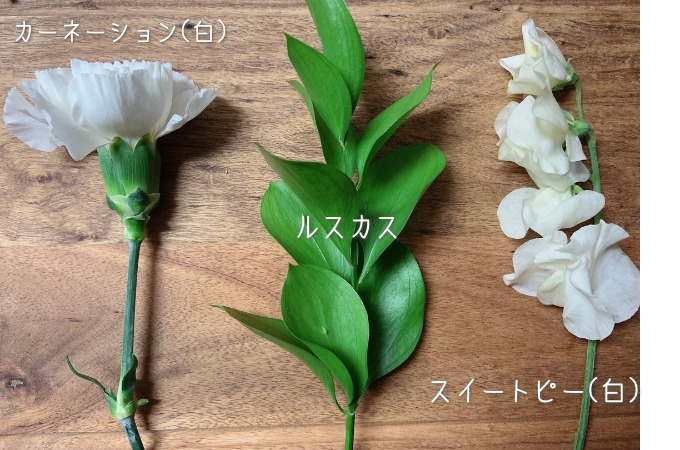 ライフルフラワーのライトプラン:届いたお花の品種