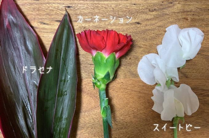 ライフルフラワー2021年1月に届いたお花
