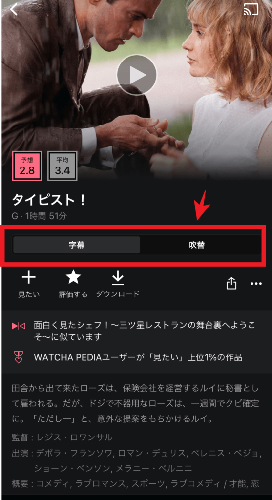 【メリット5】字幕・吹替が簡単に切り替えられる