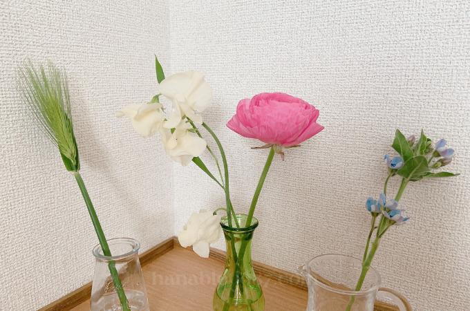 medeluのANYROOMコースで実際に届いたお花2