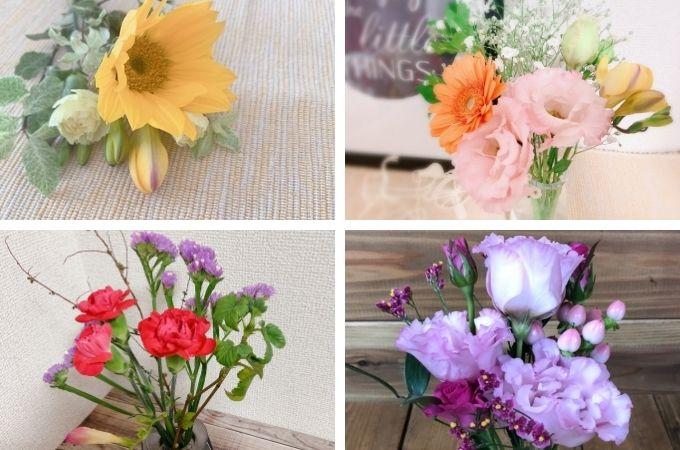 実際にレギュラープランで届いたお花はこちら♪