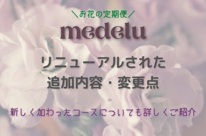 お花の定期便medeluがリニューアル!変更・追加内容と新コースについて詳しくご紹介